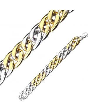 Массивный браслет - желтый Spikes