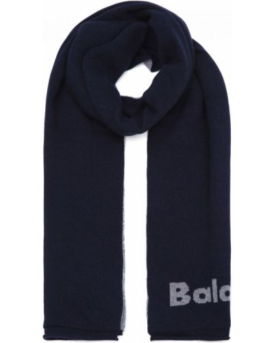 Трикотажный синий шарф Baldinini
