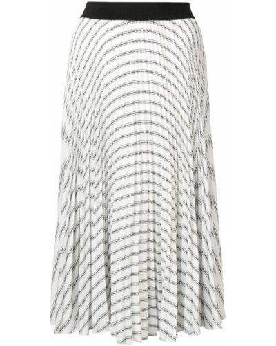 Юбка миди плиссированная с поясом Karl Lagerfeld