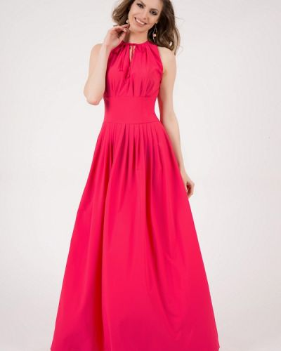 Платье макси розовое оливковый Olivegrey