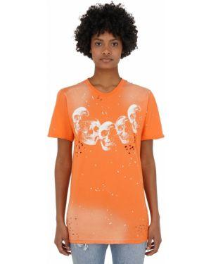 Ватная оранжевая трикотажная футболка Domrebel