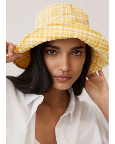 Żółty kapelusz Mango