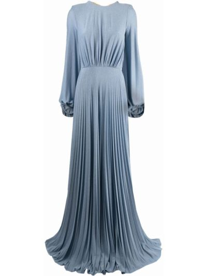 Синее платье из вискозы Elisabetta Franchi