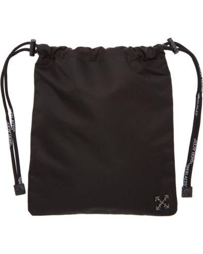 Черный кожаный ранец Off-white