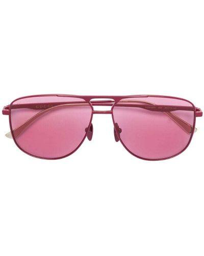 Очки авиаторы солнцезащитные розовый Gucci Eyewear