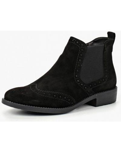 Ботинки челси осенние на каблуке замшевые Tamaris