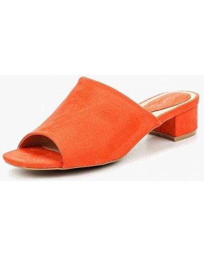 Оранжевые замшевые сабо Sweet Shoes