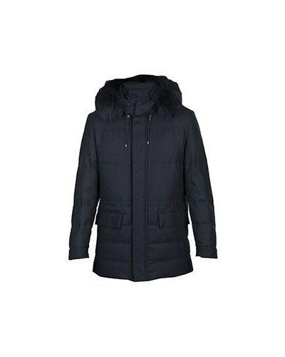 Пальто с капюшоном шерстяное Corneliani