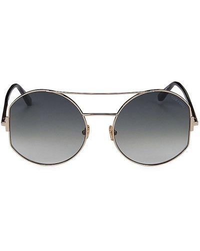 Солнцезащитные очки металлические - золотые Tom Ford