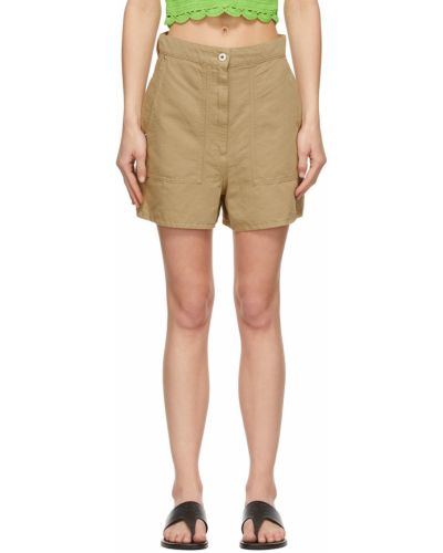Льняные шорты хаки Loewe