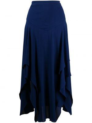 Niebieska spódnica z wysokim stanem z wiskozy Stella Mccartney