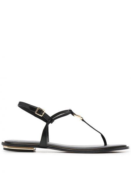 Sandały skórzane - czarne Michael Michael Kors