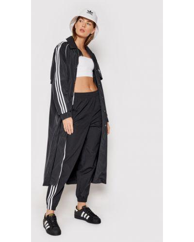 Czarny trencz Adidas