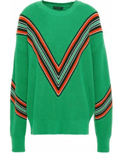 Zielony sweter w paski bawełniany Rag & Bone