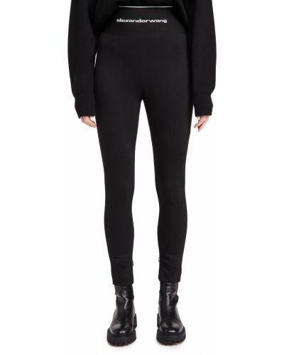 Czarne legginsy z wiskozy Alexander Wang