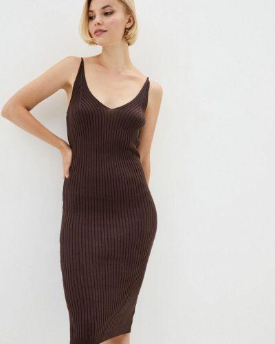 Коричневое прямое платье Nataclub