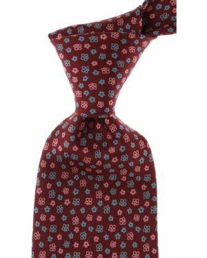Różowy krawat z jedwabiu Marinella