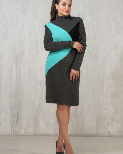 Платье из вискозы шерстяное Vay