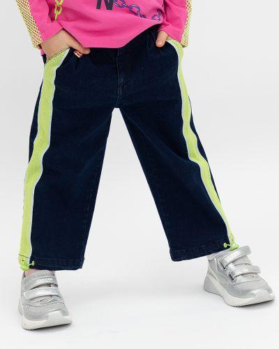 Прямые синие брюки на резинке Button Blue