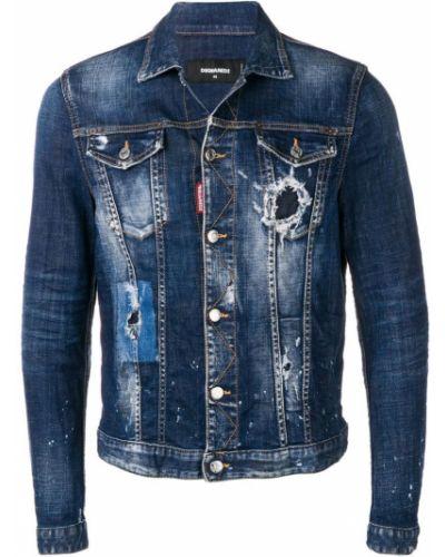 Джинсовая куртка классическая на пуговицах Dsquared2