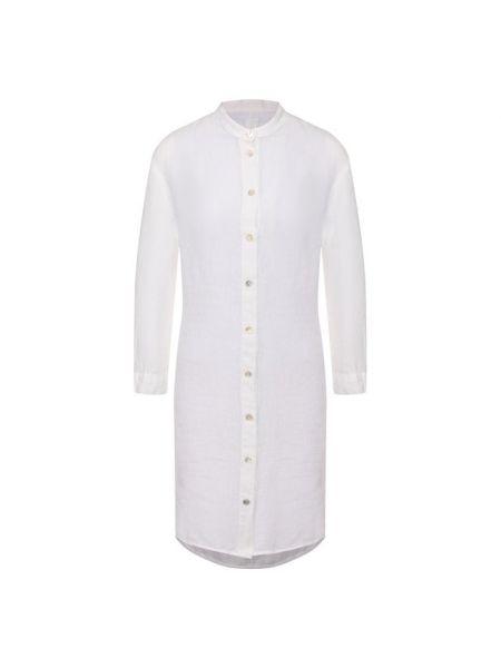 Белое льняное платье 120% Lino