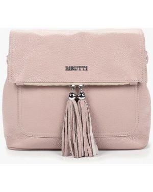 Кожаная сумка через плечо фиолетовый Alessandro Birutti