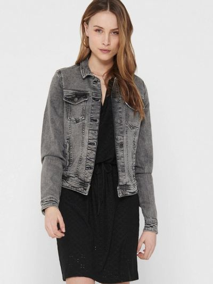 Серая джинсовая куртка Only