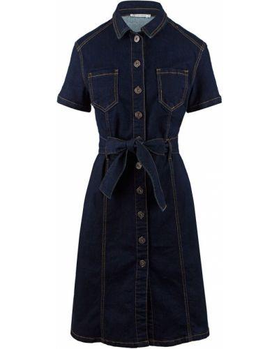 Синее джинсовое платье Zarina