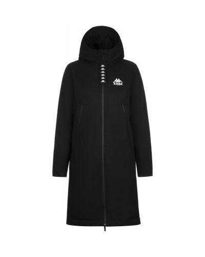 Прямая теплая черная зимняя куртка на молнии Kappa