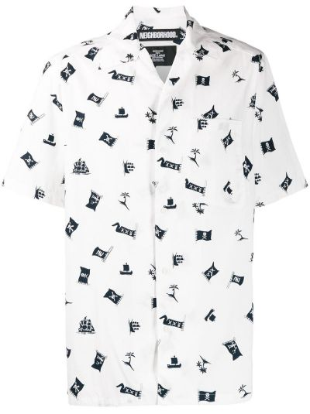 Koszula krótkie z krótkim rękawem prosto z kołnierzem Neighborhood