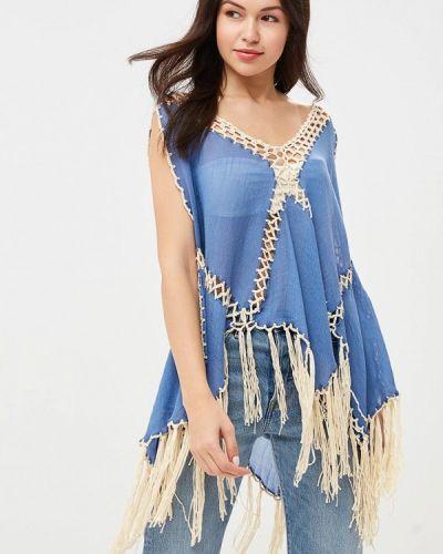 Пляжное платье весеннее синее Care Of You