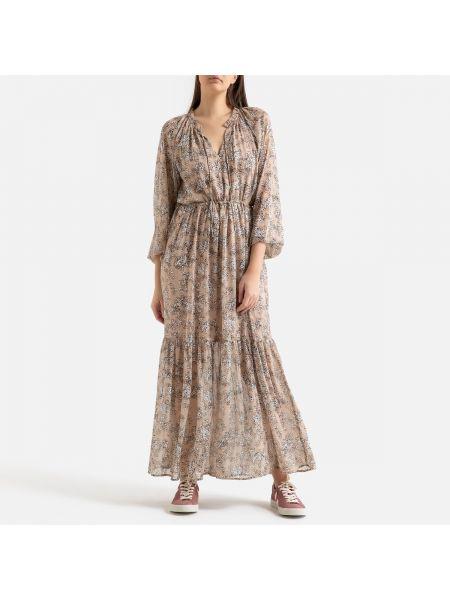 Платье с поясом из вискозы трапеция La Redoute