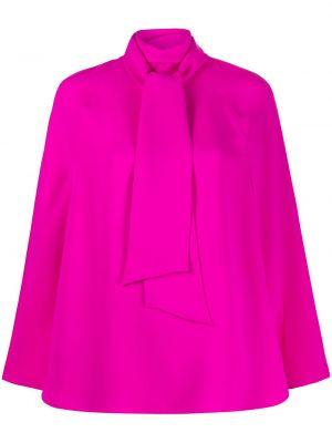 Розовый шелковый кейп с завязками Valentino