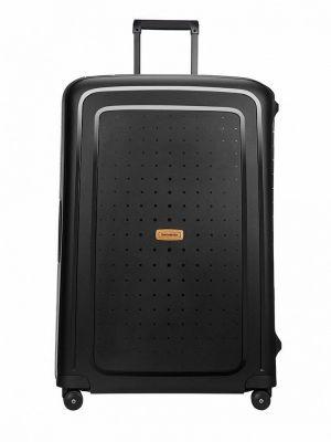 Черный зимний чемодан Samsonite