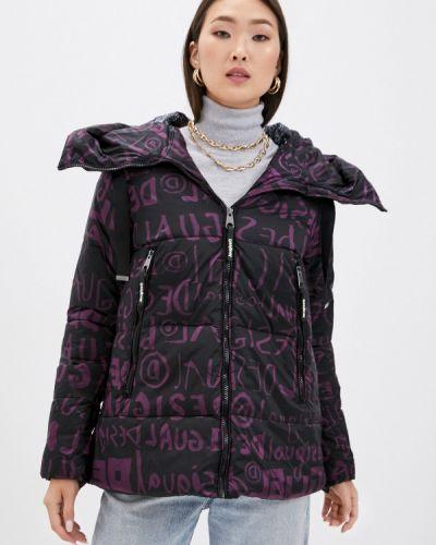 Теплая черная куртка Desigual
