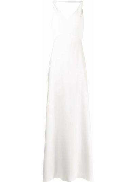 Открытое белое платье макси с открытой спиной Jenny Packham