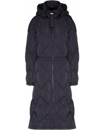 Пальто с капюшоном длинное стеганое Emporio Armani