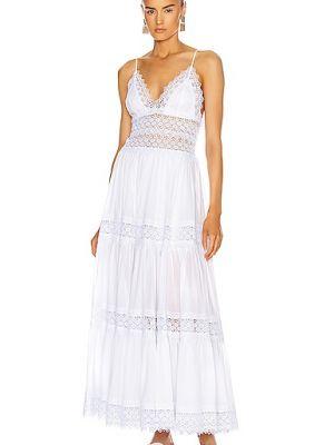 Biała sukienka koronkowa z gipiury Charo Ruiz Ibiza
