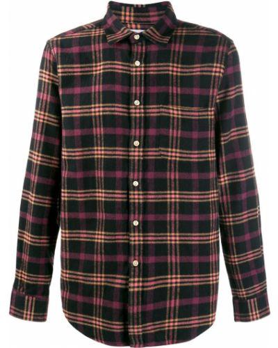 Классическая черная фланелевая классическая рубашка с воротником Portuguese Flannel