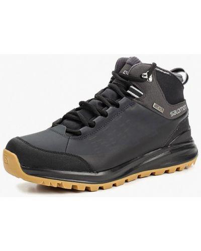 Треккинговые ботинки осенние кожаные Salomon