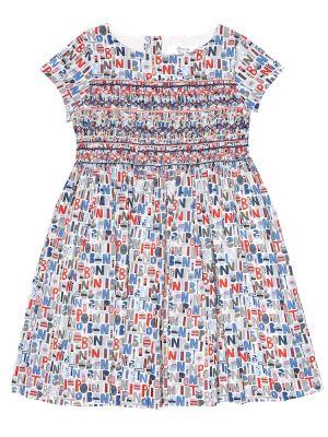 Ватное хлопковое платье Bonpoint