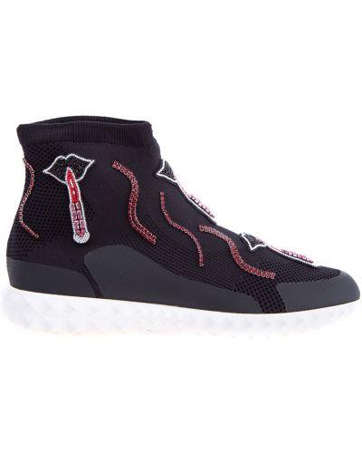 Кроссовки с шипами с принтом Valentino