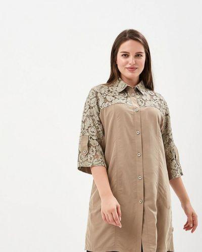 Бежевая кружевная блузка Berkline