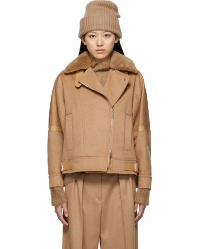 Куртка с карманами золотая Max Mara
