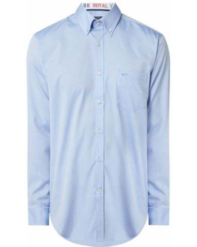 Niebieska koszula oxford bawełniana z długimi rękawami Paul & Shark