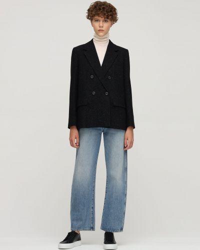 Пиджак твидовый с карманами двубортный A.p.c.