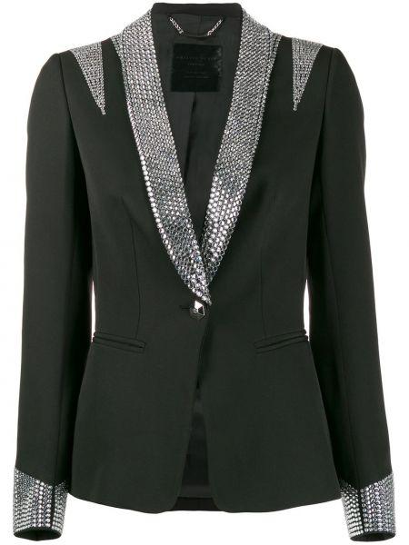 Пиджак черный смокинг Philipp Plein