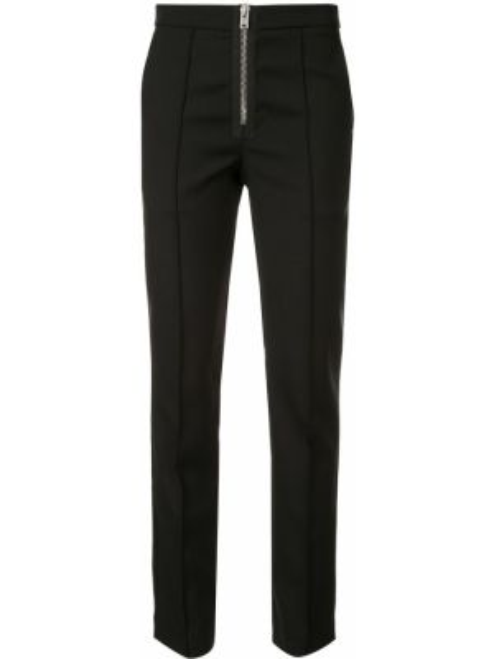 Черные брюки с карманами на молнии из вискозы Yang Li