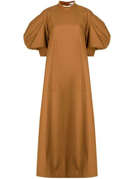 Sukienka rozkloszowana - brązowa Enfold