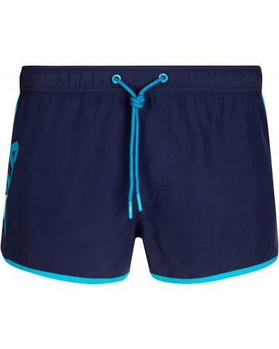 Пляжные синие спортивные шорты Fila